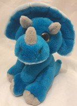 "Wild Republic Dinosaur Blue Triceratops Stuffed Plush Animal 8"" K&M Lovey Doll - $5.71"