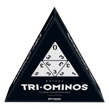 Tri-Omino's Game, Triangular Matching Numbers on 3 Sided Tiles w/ Brass Spinners - $60.27