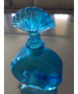 "Turquoise bottle 6"" with shell motif topper - $36.99"