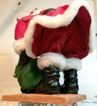 """VINTAGE SANTA CLAUS WITH BAG OF TOYS ON HEAVY CERAMIC FLOOR BASE -  10""""X10"""" image 7"""
