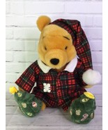 Disney Store Holiday Morning Christmas Winnie The Pooh Plush Stuffed Ani... - $25.24