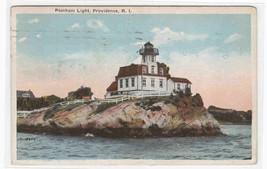 Pomham Lighthouse Providence Rhode Island 1926 postcard - $5.94
