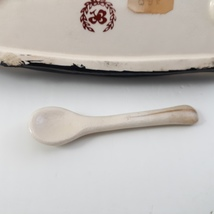 Vintage Butter Dish and Salt with small spoon Lenwile and Ardalt Japan 40's image 5