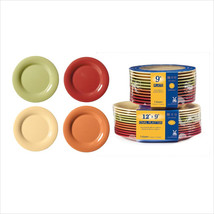 Diamond Harvest 5.5 inch Wide Rim Plate Combo Pack of 4 Harvest Colors M... - $371.00