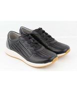 Womens Dansko Charlie Fashion Sneaker - Black Leather, 36 EU/5.5-6 M US - $152.78 CAD