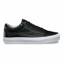 VANS Old Skool (Hologram) Black/True White Leather WOMEN'S Skate Shoes - $64.95