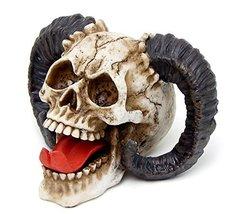 Bellaa The Skull of The Horned Beast Sculpture Ram Horned Skull - $18.67