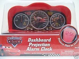 Disney Pixar Cars Dashboard Projection Alarm Clock - Cars Alarm Clock - $30.22