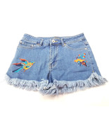 Highline Collective Womens Embroidered Fringe Jean Short Shorts Size 26 - $19.24