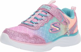 Skechers Kids Girls' Glimmer Kicks-SEA Sparkle Sneaker, Light Pink/Multi... - $49.95