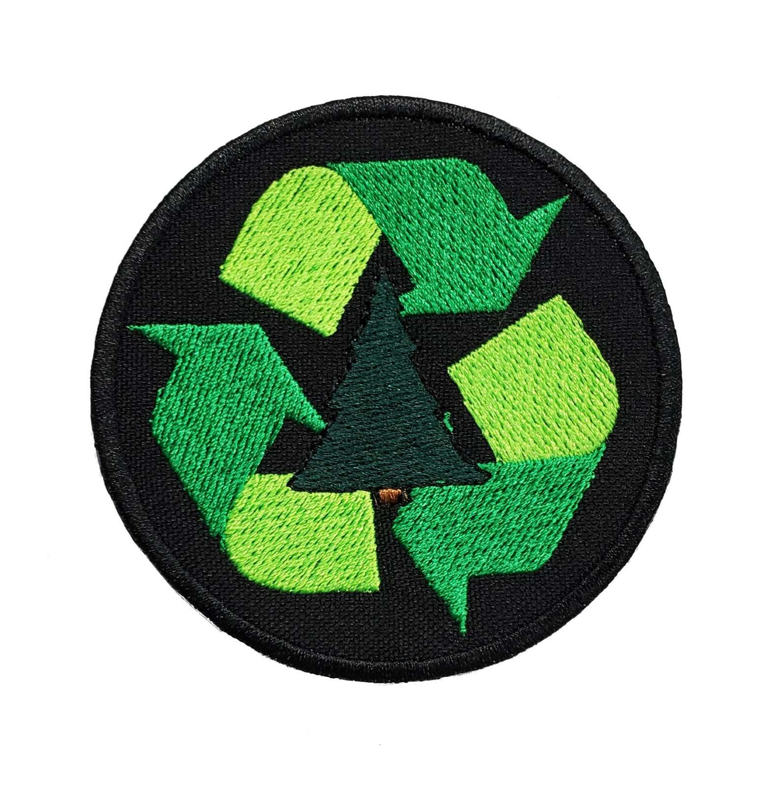 "Primary image for Recycle Embroidered Applique Iron On Patch 3"" Reduce Reuse Sign Scouts Earth Wor"
