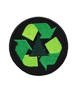 "Recycle Embroidered Applique Iron On Patch 3"" Reduce Reuse Sign Scouts E... - $6.87"