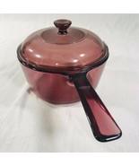 Pyrex Corning Ware  CRANBERRY  Visions Stovetop Saucepan Sauce Pan 1.5L USA - $18.76