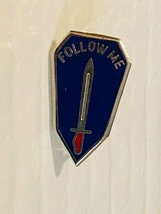 US Military Infantry School Insignia Pin - Follow Me - $10.00