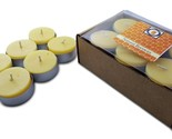 48 Natural Honey Scented Beeswax Tea Light Candles, Cotton Wick, Aluminum Cup - £23.60 GBP