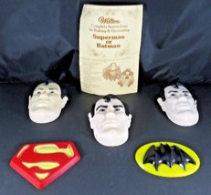 Vintage 1977 Wilton DC Superman Batman face symbol baking molds w instructions - $15.00