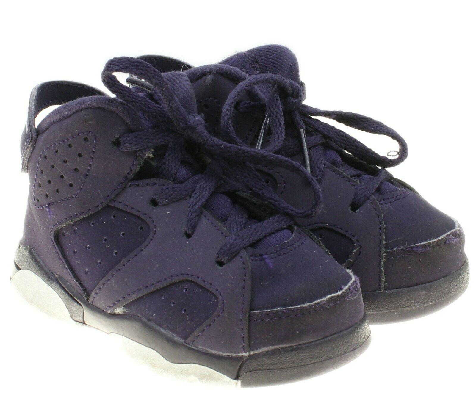 744587bda459cf Nike Air Jordan Toddler Purple Dynasty Retro 6 Toddler Sneakers 6C  645127-509 -  29.69