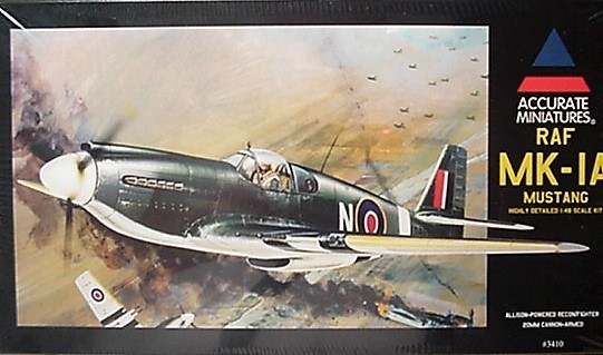 Accurate Miniatures 1/48 Kit 3410 RAF MK-IA Mustang