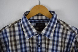 Michael Kors Mens Size 2XL Slim Button Down Plaid Long Sleeve Shirt Reta... - €24,04 EUR