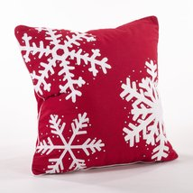 Fennco Styles Home Dcor Happy Holiday Decorative Studded Snowflake Throw... - $44.54