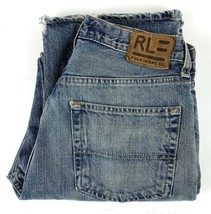 RL Polo Ralph Lauren Men's Destroyed Relaxed Straight Fit Jean Size 31 Med Wash - $14.69