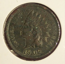 1902 Indian Head Cent VF Details #0725 - $4.29