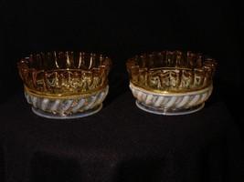 Victorian Hobbs Brockunier Pair of Gonterman Swirl Opalescent Small Berr... - $95.00