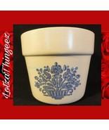 "Pfaltzgraff 4"" Blue Village Flower Pot Planter USA 1982 RETIRED - $29.69"