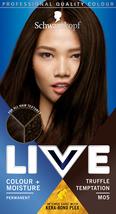 Schwarzkopf Live Hair Dye Intense Moisture Colour Dark Brown TRUFFLE TEMPT M05 - $14.89