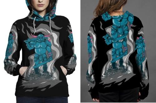 Pekka hoodie fullprint women
