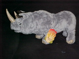 "18"" Rare Folkmanis Rhinoceros Rhino Hand Puppet Plush Toy With Tags - $140.24"