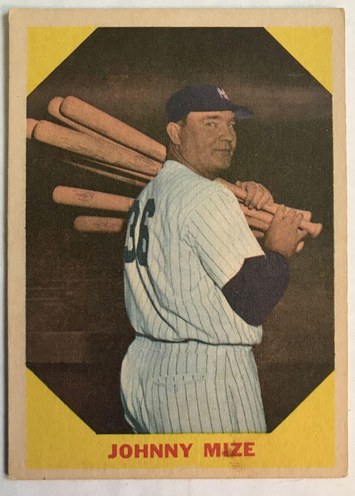 Johnny Mize 1960 Fleer Greats Baseball Card #38