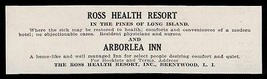 Brentwood LI 1915 NY Ross Health Resort and Arborlea Inn Restore Health ... - $10.99