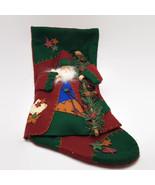Prima Creations Santa Holding Staff Ceramic Face & Hands Christmas Stocking - $37.83