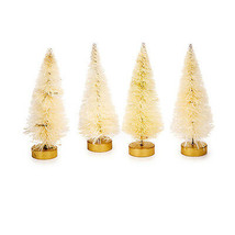 "Darice Bottle Brush Tabletop Sisal Tree - Natural Beige Tips 3""tall  4pc... - $8.95"