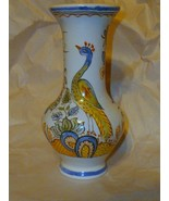 Hand Painted in France For Tiffany and Co Porcelain # ed Vase Peacock #1... - $88.61