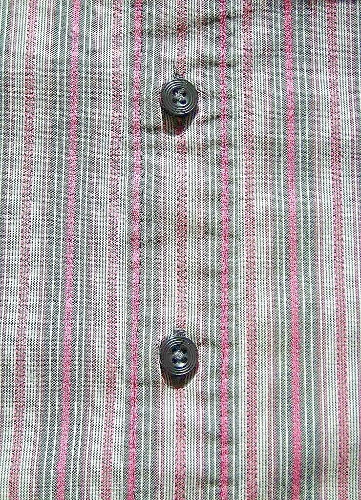 lot 2 dress shirts button 3/4 sleeve fitted stripe Old Navy size XS Express sz 2
