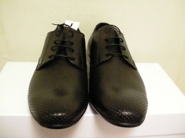 Versace collection men dressing shoes leather black size 42 euro new with box - $242.50