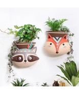 Flower Pot Wall Hanging Planter Animal Design American Style Succulent P... - $53.99