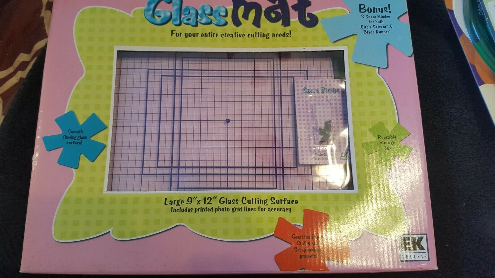 "Primary image for EK Success Glass Cutting Mat For Scrapbooking and Crafts 9"" x 12"" . Plus Blades"