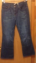 Express blue jeans size 12 women's waist 33 inseam 30 relaxed fit - $6.95