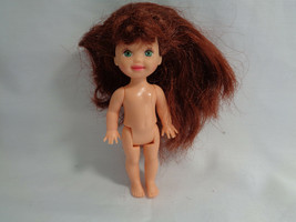 Kelly Barbie Little Sister Auburn Hair Green Eyes & Freckles Nude Doll - $4.21