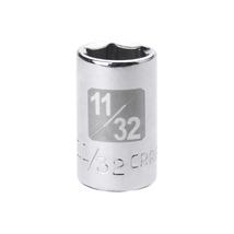 Craftsman 11/32 in. Easy-To-Read Socket, 6 pt. STD, 1/4 in. 34595 - $1.25