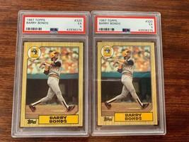 (2) 1987 Topps Barry Bonds Rookie PSA EX 5 Baseball Card #320 MLB - $29.40
