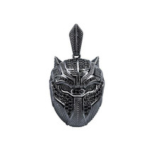 Betsey Johnson HUGE Black Crystal Paved Panther Cat Cougar Necklace VERY... - $8.81