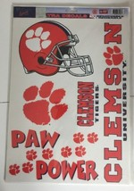 Clemson Tigers Decal Stickers Vinyl Cling 18 Removable per Sheet NCAA Li... - $8.59