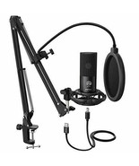 Studio Condenser USB Microphone Computer PC Microphone Kit - $115.28