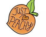 Just Peachy Enamel Pin Lapel Brooch Peach Fruit Juicy