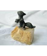 Squirrel Acorn Figurine Marvin Wernick Pewter Quartz Sculpture Vintage A... - $65.50