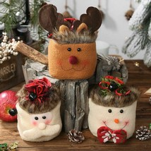 Decorating Home Party For Christmas Gifts Bags Snowman Elk Santa Sacks P... - $8.90
